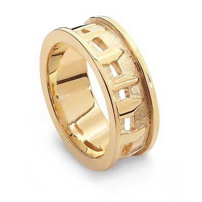 Aurora Jewellery Ring Of Brodgar Gold Ring