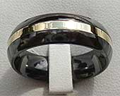Black & Gold Mens Wedding Ring