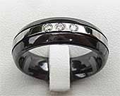 Black & Silver Colour Diamond Wedding Ring