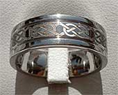 Bold Celtic Knot Wedding Ring