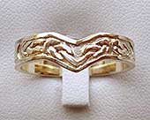 Bruray Celtic Wishbone Wedding Ring
