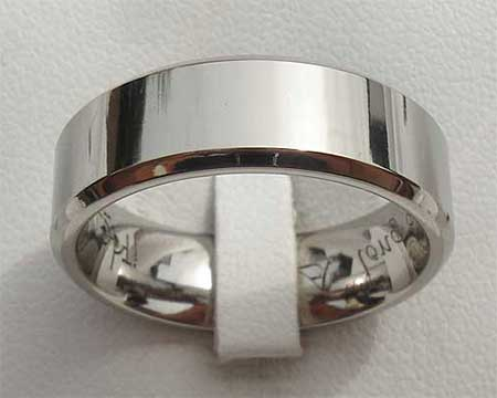 Chamfered Titanium Wedding Ring