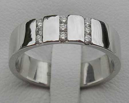 Channel Set Womens Diamond Wedding Ring