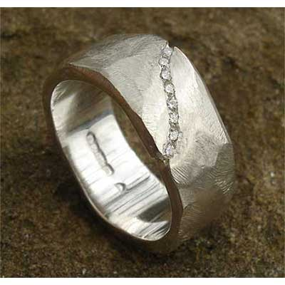 Chunky Diamond Wedding Ring For Women