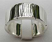 Chunky Polished Silver Wedding Ring