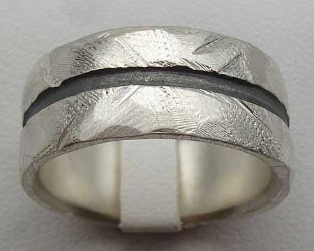 Chunky Sterling Silver Wedding Ring