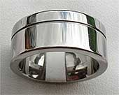 Chunky Titanium Wedding Ring