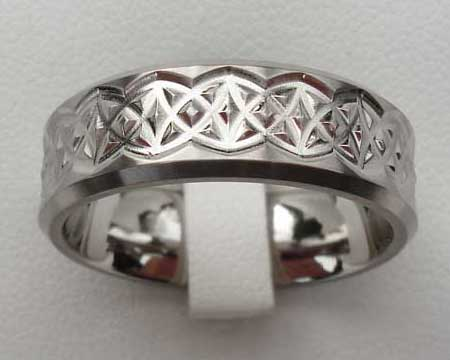 Contemporary Celtic Wedding Ring