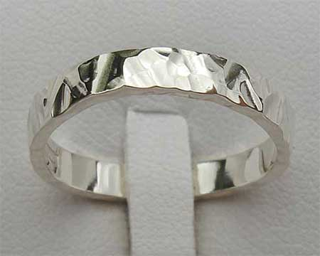 Contemporary Silver Womens Wedding Ring