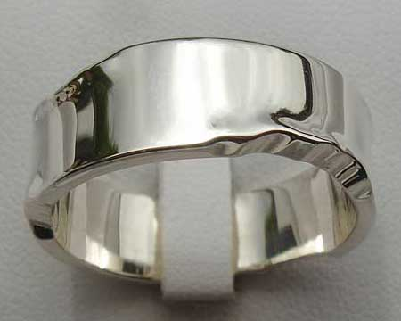 Contemporary Sterling Silver Wedding Ring