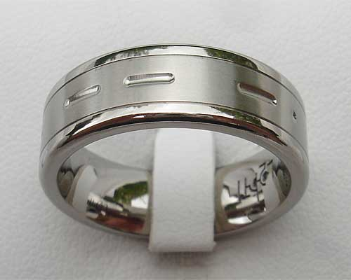 Custom Morse Code Wedding Ring