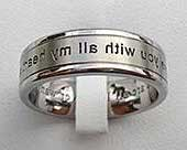 Custom Outer Engraved Wedding Ring
