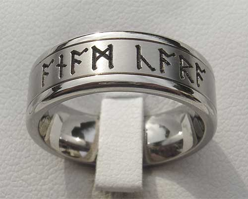 Customised Rune Wedding Ring