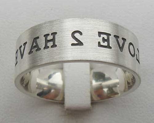 Customised Silver Wedding Ring