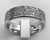 Designer Textured Titanium Wedding Ring