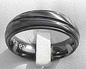 Diagonal Rail Mens Wedding Ring