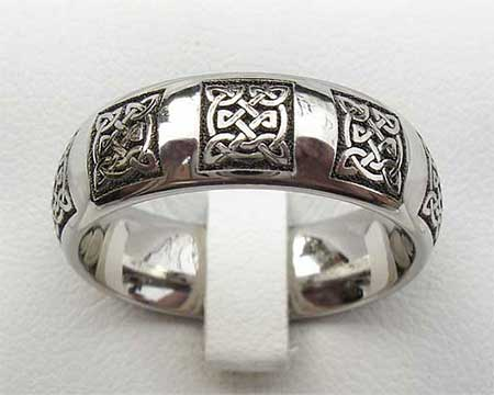 Domed Profile Celtic Wedding Ring