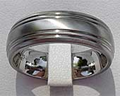 Domed Profile Titanium Wedding Ring