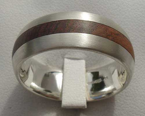 Domed Wooden Wedding Ring
