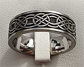 Flat Celtic Knot Wedding Ring