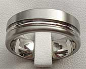Flat Designer Titanium Wedding Ring