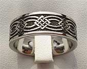 Flat Profile Celtic Wedding Ring