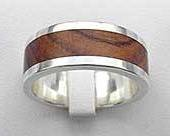 Flat Profile Wooden Wedding Ring