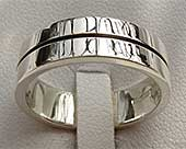 Flat Sterling Silver Wedding Ring