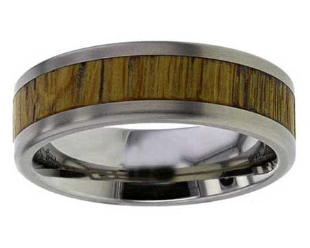 GETi Titanium & Wooden Inlay Wedding Ring