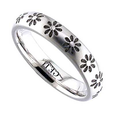 GETi Titanium Ring 2204 FLOWERS