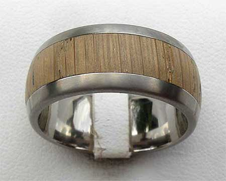 GETi Wide Titanium & Wood Wedding Ring