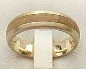 Gold & Wooden Wedding Ring