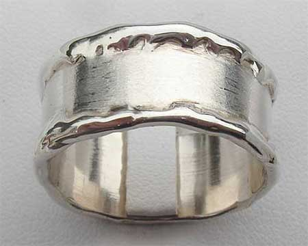 Handcrafted Silver Wedding Ring