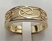 Handmade Gold Celtic Wedding Ring