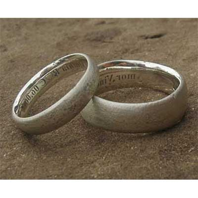 Handmade Silver Womens Wedding Rings
