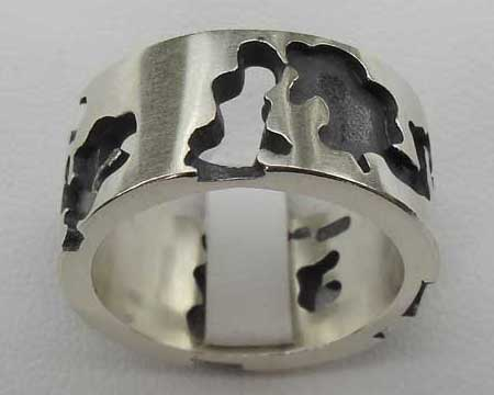 Heavy Sterling Silver Wedding Ring
