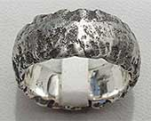 Heavy Textured Silver Wedding Ring
