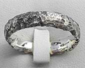 Heavy Textured Womens Wedding Ring