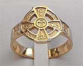 Hildasay Celtic Cross Wedding Ring
