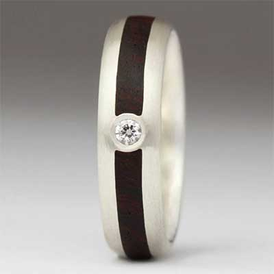 Justin Duance Wood Ring R38D7
