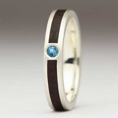 Justin Duance Wood Ring R71T-4