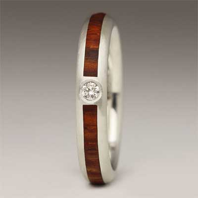 Justin Duance Wood Ring R73D4