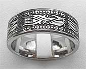 Engraved Leaf Art Celtic Wedding Ring