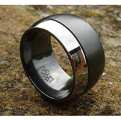 Mens Domed Wedding Ring