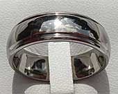 Modern Domed Titanium Wedding Ring