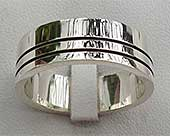 Modern Sterling Silver Wedding Ring