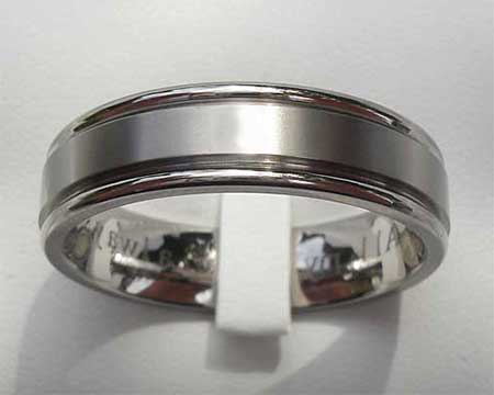 Modern Titanium Wedding Ring
