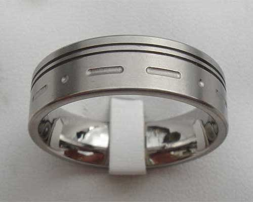 Morse Code Custom Wedding Ring
