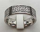 Organic Texture Titanium Wedding Ring