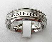 Outer Engraved Custom Wedding Ring